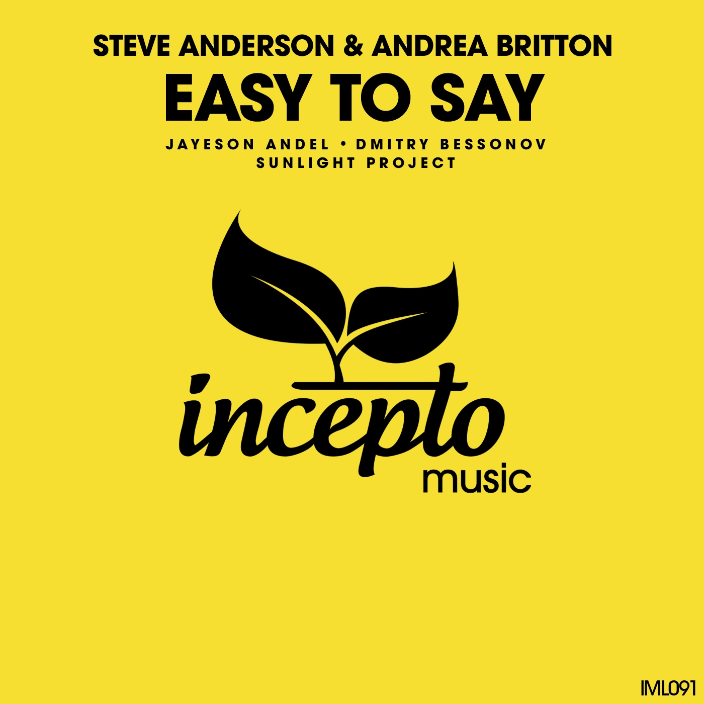 Steve Anderson & Andrea Britton - Easy to Say (From A/ To /B Album Mix)